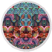 The Joy Of Design Mandala Series Puzzle 7 Arrangement 3 Round Beach Towel