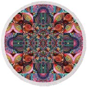 The Joy Of Design Mandala Series Puzzle 7 Arrangement 4 Round Beach Towel