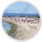 The Joy Of Summer Round Beach Towel