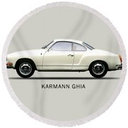 The Karmann Ghia Round Beach Towel