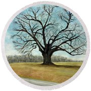 The Keeler Oak Round Beach Towel