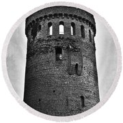 The Keep At Nenagh Castle In Nenagh Ireland Round Beach Towel