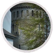 The Keep At Nenagh Castle Ireland Round Beach Towel