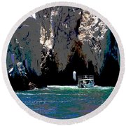 The Keyhole Mexico Cabo San Lucas Round Beach Towel