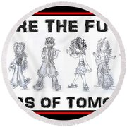 Round Beach Towel featuring the drawing The Kids Of Tomorrow 1 by Shawn Dall