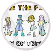 Round Beach Towel featuring the digital art The Kids Of Tomorrow by Shawn Dall