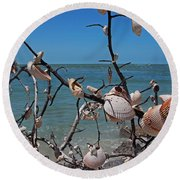 Round Beach Towel featuring the photograph The Kindness by Michiale Schneider