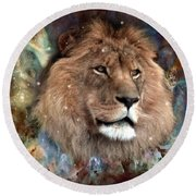 The King Round Beach Towel by Bill Stephens