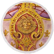 The King Of The Carousel Round Beach Towel