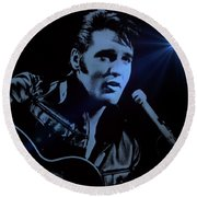 The King Rocks On Round Beach Towel