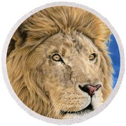 The King Round Beach Towel by Sarah Batalka