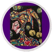 The King's Fool Round Beach Towel