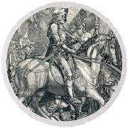 The Knight Of Death. Sin And Death Round Beach Towel