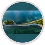 Round Beach Towel featuring the photograph The Knob by Michael Hughes