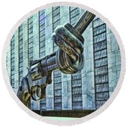The Knotted Gun Round Beach Towel by Allen Beatty