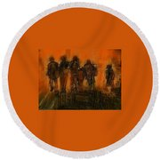 The Knowledge Seekers Round Beach Towel by Jim Vance