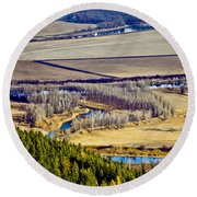 The Kootenai Valley Round Beach Towel