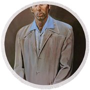 The Kramer Portrait  Round Beach Towel