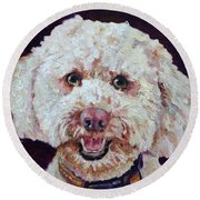 The Labradoodle Round Beach Towel