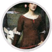 The Lady Clare Round Beach Towel
