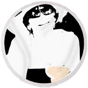 Round Beach Towel featuring the photograph The Lady Loves A Margaretta by Gary Smith