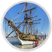 The Lady Washington Round Beach Towel by Rob Green