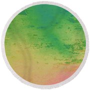 The Lake Round Beach Towel by Bill OConnor