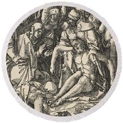 The Lamentation, From The Small Passion Round Beach Towel