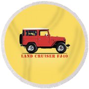 The Land Cruiser Fj40 Round Beach Towel