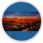 The Land I Love Round Beach Towel by Emery Franklin