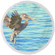 The Landing Round Beach Towel