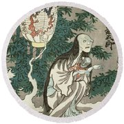 The Lantern Of The Ghost Of Sifigured O-iwa Round Beach Towel