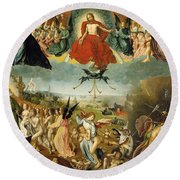 The Last Judgement Round Beach Towel