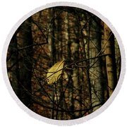 Round Beach Towel featuring the photograph The Last Leaf by Bruce Patrick Smith