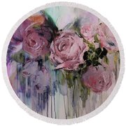 The Last Of Spring Painting Round Beach Towel