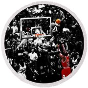The Last Shot 23 Round Beach Towel by Brian Reaves