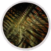 Round Beach Towel featuring the digital art The Last Vestiges Of Winter by NirvanaBlues