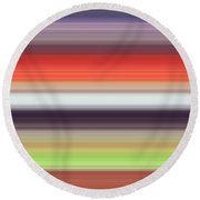 The Late Afternoon Time In The Field Round Beach Towel