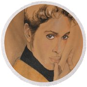 The Late Prince Rogers Nelson Round Beach Towel
