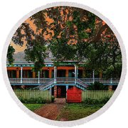The Laura Plantation  Round Beach Towel by J Griff Griffin