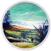 The Lawn Pandanus Round Beach Towel