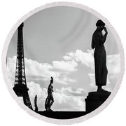 The Left Side Round Beach Towel by Giuseppe Torre