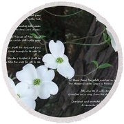 The Legend Of The Dogwood Round Beach Towel by Andrea Anderegg