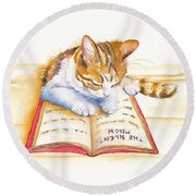 The Lesson Round Beach Towel by Debra Hall