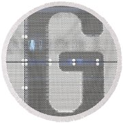 The Letter G Round Beach Towel
