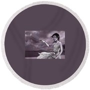 The Letter Round Beach Towel