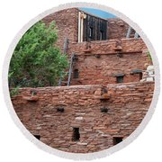 Round Beach Towel featuring the photograph The Levels Of The Hopi House by Kirt Tisdale