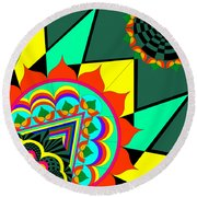 The Life In Colors-i Round Beach Towel