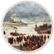 The Lifeboat Round Beach Towel