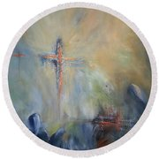 The Light Of Christ Round Beach Towel